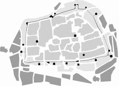 Plano Casco Histórico de Cáceres