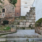 Restos de la Muralla Romana en la Plaza del Socorro